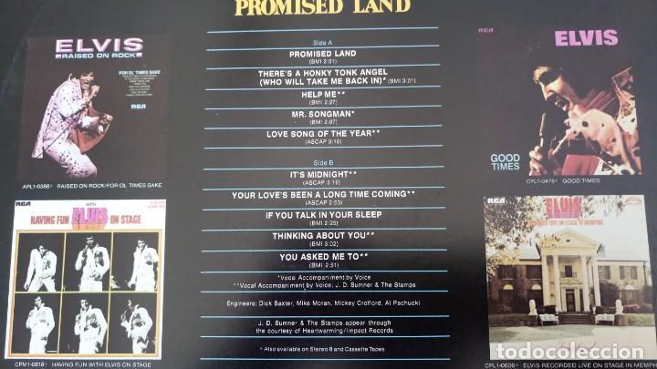 Discos de vinilo: ELVIS PRESLEY - PROMISED LAND - LP - AFL1-0873 RCA VICTOR - USA - Foto 5 - 148970622