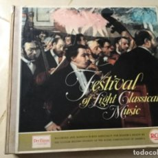 Discos de vinilo: FESTIVAL OF LIGHT CLASSICAL MUSIC . 12 LP. Lote 148981482