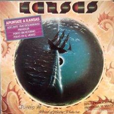 Dischi in vinile: KANSAS- APUNTATE A KANSAS- EP. PROMO- APAISADO- ED. ESPAÑOLA- 1978. Lote 148984886