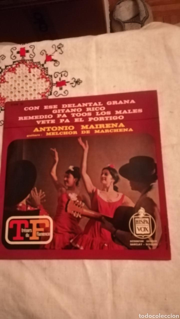 ANTIGUO VINILO DE ANTONIO MAIRENA, EDITADO EN FRANCIA (Música - Discos de Vinilo - Maxi Singles - Flamenco, Canción española y Cuplé)