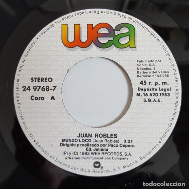 Discos de vinilo: SINGLE / JUAN ROBLES / MUNDO LOCO / 1983 - Foto 3 - 148997686
