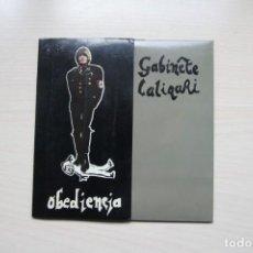 Discos de vinilo: GABINETE CALIGARI . OBEDIENCIA / LA VIDA ES CRUEL / COLGOTA - 1982 TRES CIPRESES. Lote 149007034