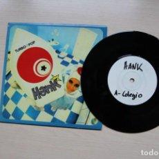Discos de vinilo: HANK – COLEGIO / ARTE / SUNSHINE - 1995 MUNSTER RECORDS - TEST PRESSING VINILO NEGRO (LOS DELTONOS). Lote 149007386