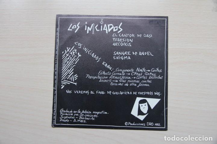 Discos de vinilo: LOS INICIADOS - EL CANTOR DE JAZZ - EP - DRO 1982 MINIMAL SYNTH - Foto 2 - 149007670