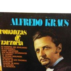 Discos de vinilo: BJS.DISCO DE VINILO.LP.ALFREDO KRAUS.ROMANZAS DE ZARZUELA.EDIGSA. Lote 149015610
