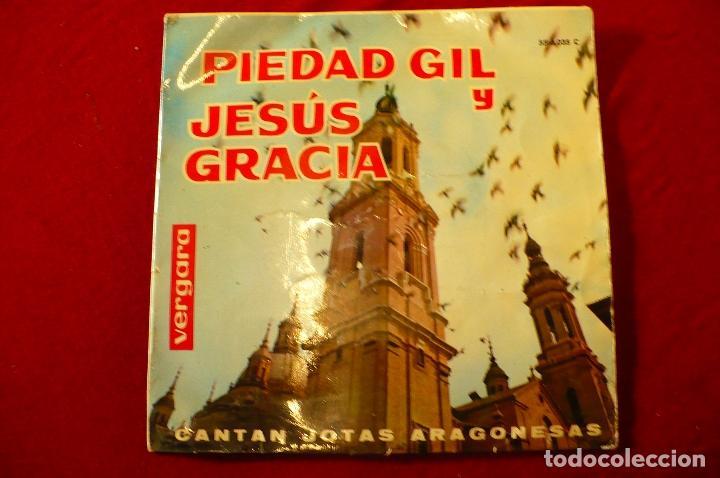 PIEDAD GIL Y JESÚS GRACIA, CANTAN JOTAS ARAGONESAS, VERGARA, 1963. (Música - Discos de Vinilo - EPs - Otros estilos)