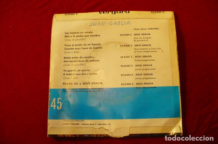Discos de vinilo: piedad gil y jesús gracia, cantan jotas aragonesas, vergara, 1963. - Foto 2 - 149018434