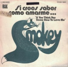 Discos de vinilo: SMOKEY - IF YOU THINK YOU KNOW HOW TO LOVE ME / TIS ME (SINGLE ESPAÑOL, RAK 1975). Lote 149033838