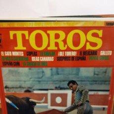Discos de vinilo: BJS.DISCO DE VINILO.LP.TOROS.PASODOBLES POR BANDA TAURINA.STEREO.. Lote 149037898