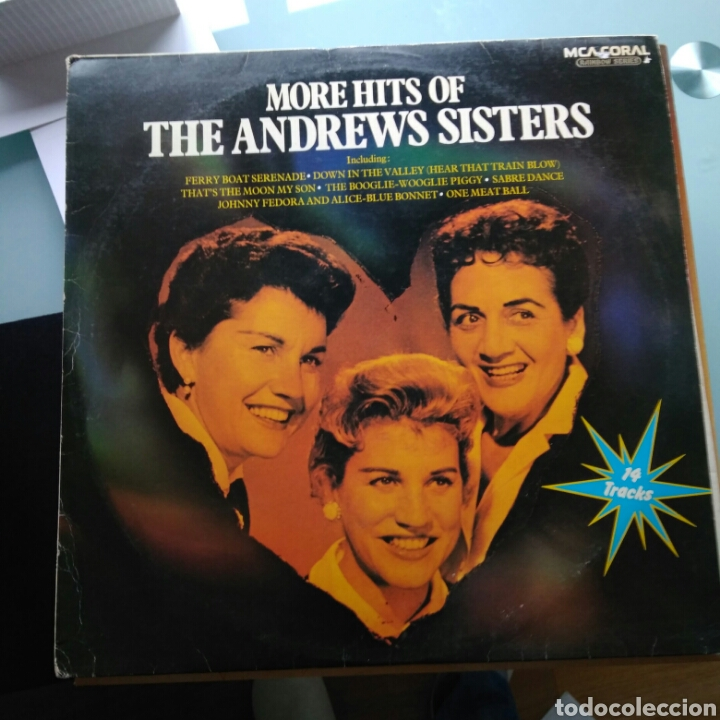THE ANDREWS SISTERS – MORE HITS OF THE ANDREWS SISTERS (MCA CORAL - CDLM 8030, UK) (Música - Discos - LP Vinilo - Jazz, Jazz-Rock, Blues y R&B)