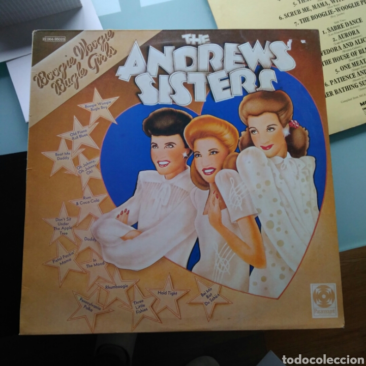 THE ANDREWS SISTERS - BOOGIE WOOGIE BUGLE GIRLS (PARAMOUNT RECORDS, FRANCE, 1974) (Música - Discos - LP Vinilo - Jazz, Jazz-Rock, Blues y R&B)