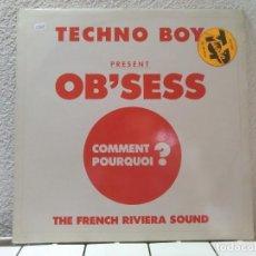 Discos de vinilo: TECHNO BOY. Lote 149148170