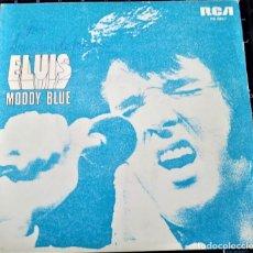 Discos de vinilo: ELVIS PRESLEY - MOODY BLUE - RCA PB-0857 - SINGLE 1977. Lote 149152042