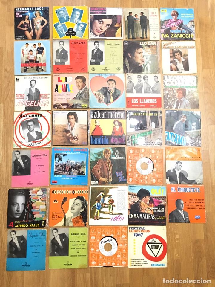 MUSICA • CONJUNTO DE 34 DISCOS SINGLES • SINGLE (Música - Discos - Singles Vinilo - Flamenco, Canción española y Cuplé)