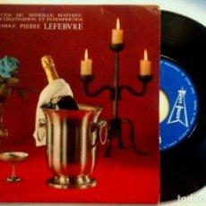 Discos de vinilo: PIERRE LEFEBVRE ET SON GRAND ORCHESTRE - LA DERNIERE VALSE / UN MONDE AVEC TOI - SINGLE FRANCES. Lote 149213794