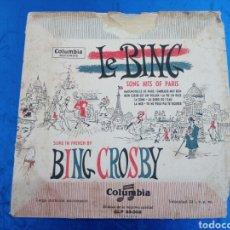 Discos de vinilo: BING CROSBY , LOS GRANDES EXITOS EN PARIS .. Lote 149216788