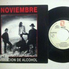 Discos de vinilo: NOVIEMBRE - CANCION DEL ALCOHOL - SINGLE PROMOCIONAL 1993 - ZAFIRO. Lote 158115517