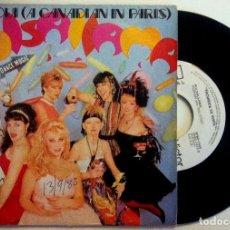 Discos de vinilo: PULSALLAMA - OUI-OUI (A CANADIAN IN PARIS) / PULSALLAMA ON THE RAG - SINGLE PROMOCIONAL 1983. Lote 149226718