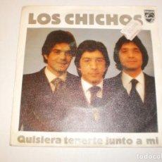 Discos de vinilo: SINGLE LOS CHICHOS QUISERA TENERTE JUNTO A MÍ. YO VIVO NAVEGANDO PHILIPS 1981 SPAIN (PROBADO Y BIEN). Lote 149250962