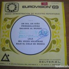 Discos de vinilo: VVAA - EUROVISION 69 - EP BELTER PROMO IVAN & M'S SIW MALMKVIST. Lote 149283890