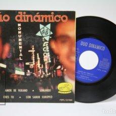 Discos de vinilo: DISCO EP DE VINILO - DÚO DINAMICO / AMOR DE VERANO - SOÑANDO.... - LA VOZ DE SU AMO - AÑO 1963. Lote 149313362