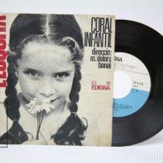 Discos de vinilo: DISCO EP DE VINILO - L'ESQUITX CORAL INFANTIL / M. DOLORS BONAL - EDIGSA - AÑO 1966. Lote 149313398