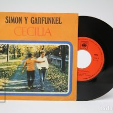 Discos de vinilo: DISCO SINGLE VINILO - SIMON Y GARFUNKEL / CECILIA - CBS - AÑO 1970. Lote 149313524