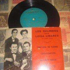 Discos de vinilo: LOS GALINDOS CON LUISA LINARES VENTANA DE FLORES JOSE PIQUER GELU NATI (COLUMBIA-1957)OG ESPAÑA. Lote 149330174