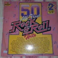 Discos de vinilo: 50 ALL TIME ROCK AND ROLL HITS-LP DOBLE-50 CANCIONES. Lote 149340830