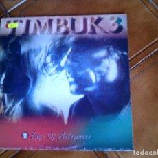 Discos de vinilo: DISCO DEL GRUPO TIMBUK 3 LP ,EDGE OF ALLEGIANCE 1989. Lote 149349038