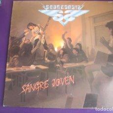 Discos de vinilo: SOBREDOSIS LP CHAPA 1985 - SANGRE JOVEN - HEAVY METAL - OBUS - BARON ROJO - SANTA - BELLA BESTIA. Lote 149351970