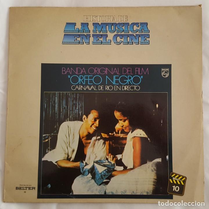 LP / B.S.O. ORFEO NEGRO / HISTORIA DE LA MUSICA EN EL CINE Nº 10 / 1982 (Música - Discos - LP Vinilo - Bandas Sonoras y Música de Actores )