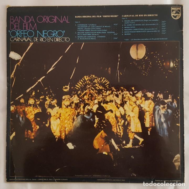 Discos de vinilo: LP / B.S.O. ORFEO NEGRO / HISTORIA DE LA MUSICA EN EL CINE Nº 10 / 1982 - Foto 2 - 149363198