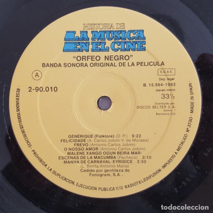 Discos de vinilo: LP / B.S.O. ORFEO NEGRO / HISTORIA DE LA MUSICA EN EL CINE Nº 10 / 1982 - Foto 3 - 149363198