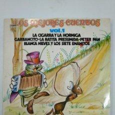 Disques de vinyle: LOS MEJORES CUENTOS. VOL. VOLUMEN 1. LA CIGARRA Y LA HORMIGA. GARBANCITO. LA RATITA... TDKDA17. Lote 149370470