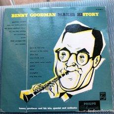 Discos de vinilo: BENNY GOODMAN MAKES HISTORY. Lote 149373698