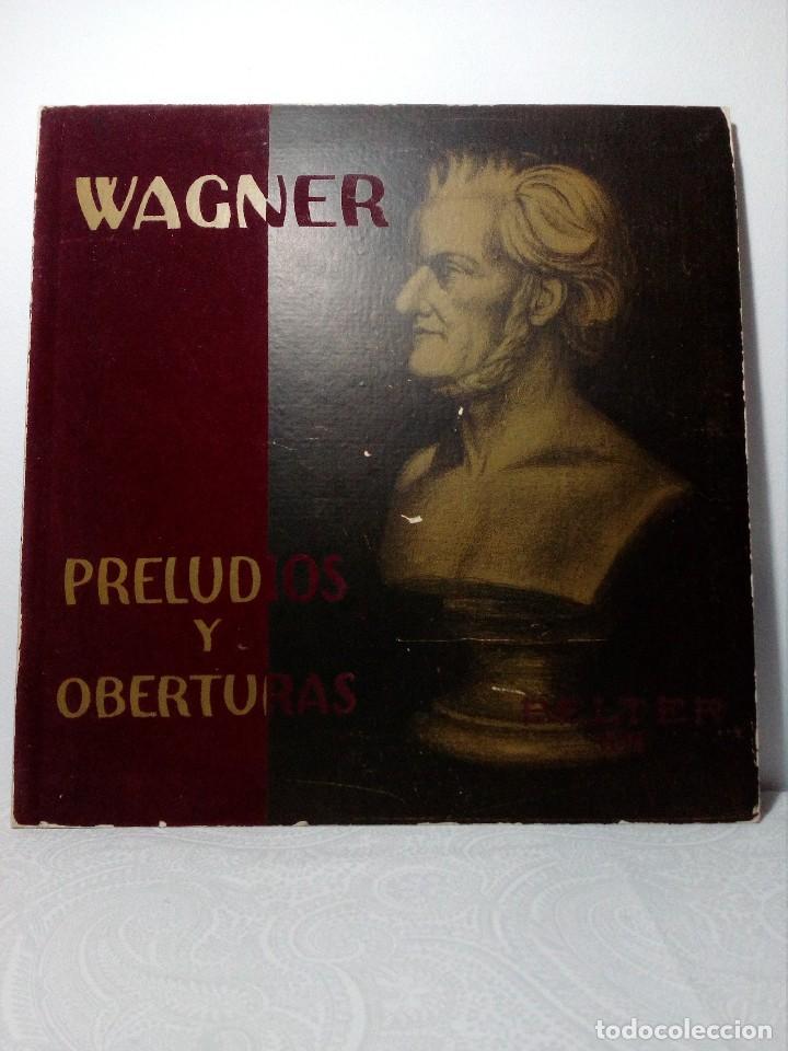 DISCO VINILO RICHARD WAGNER (PRELUDIOS Y OBERTURAS) ESPAÑA BELTER VOX AÑOS 50 (Música - Discos - LP Vinilo - Clásica, Ópera, Zarzuela y Marchas)