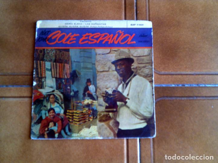 DISCO DE NAT KING COLE CANTA EN ESPAÑOL 4 TEMAS 1959 (Música - Discos de Vinilo - EPs - Jazz, Jazz-Rock, Blues y R&B)