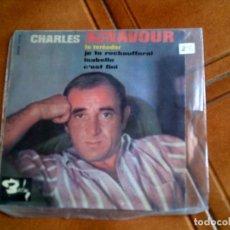 Discos de vinilo: DISCO DE CHARLES AZNAVOUR CONTIENE 4 TEMAS AÑOS 60. Lote 149477146