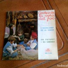 Discos de vinilo: DISCO CONTES DE LA VORADEL FOC AÑO 1964 . Lote 149477742