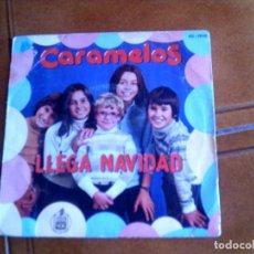 Discos de vinilo: DISCO DEL GRUPO CARAMELOS ,LLEGA NAVIDAD Y LA CANCION DEL TAMBORILERO. Lote 149481446