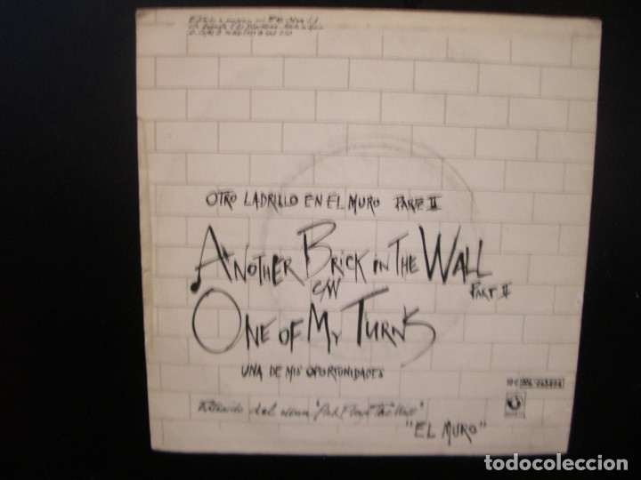 Discos de vinilo: PINK FLOYD- ANOTHER BRICK IN THE WALL. SINGLE. - Foto 2 - 149482374