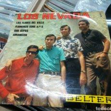 Disques de vinyle: LOS NEVADA SOLO CARPETA DEL EP LAS FLORES DEL VALLE CON LA FIRMA DE ELLOS. Lote 149504292