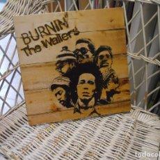Discos de vinilo: BOB MARLEY & THE WAILERS – BURNIN' .LP REED 2015 EUROPA.CARPETA ABIERTA.SELLO ISLANDS. Lote 149510874
