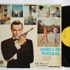 Discos de vinilo: JOHN BARRY PLAYS 007 - LP SPAIN PS - MUSICA DE PELICULAS - FIDIAS EM 502 * AÑO 1968. Lote 149537982