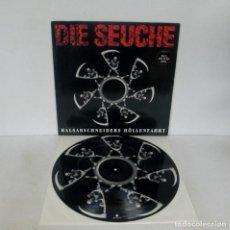 Discos de vinilo: DIE SEUCHE - HALSABSCHNEIDERS HÖLLENFAHRT -MAXI- VERTIGO 1992 864 595-1 PICTURE DISC HARD ROCK. Lote 149562094