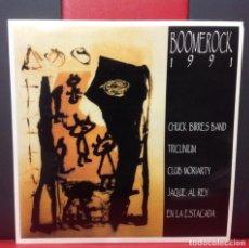 Discos de vinilo: BOOMEROCK 1991 LP 6 GRUPOS CON 10 TEMAS GRUPOS ZONA CATALUNYA, MUY DIFICIL, NUEVO. Lote 149952896