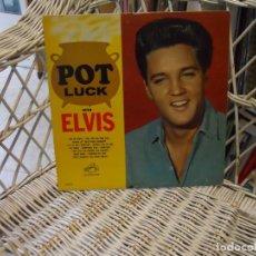 Discos de vinilo: ELVIS PRESLEY – POT LUCK .LP ORIGINAL USA 1962.SELLO RCA.MONO. Lote 149585378