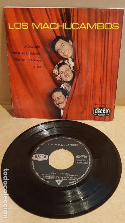 LOS MACHUCAMBOS / LA CUCARACHA / EP - DECCA - 1961 / MBC. ***/*** (Música - Discos de Vinilo - EPs - Grupos y Solistas de latinoamérica)