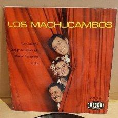 Discos de vinilo: LOS MACHUCAMBOS / LA CUCARACHA / EP - DECCA - 1961 / MBC. ***/***. Lote 149585406
